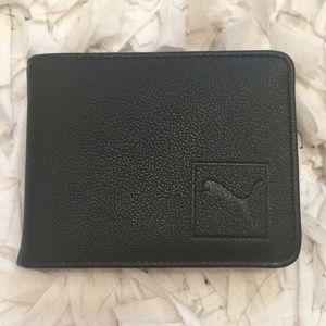Puma black leather wallet NWOT